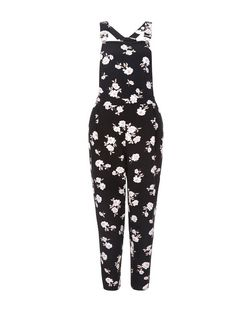 Petite Black Floral Print Jumpsuit | New Look