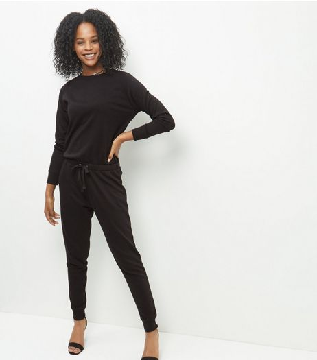 Black Sweater Jumpsuit  | New Look