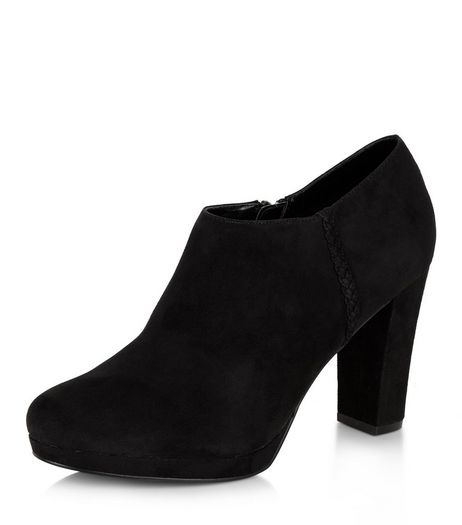 Black Suedette Platform Shoe Boots  | New Look