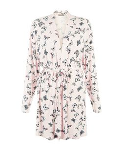 Pink Butterfly Print Dressing Gown | New Look