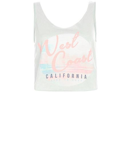 Mint Green West Coast Tie Back Vest  | New Look