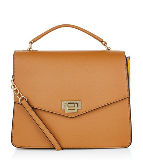 Tan Colour Block Shoulder Bag  | New Look