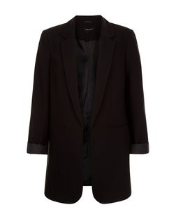 Black Longline Blazer  | New Look