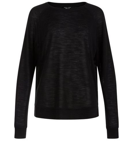 Teens Black Long Sleeve Jumper   | New Look