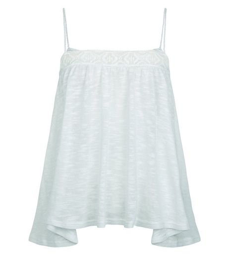 Mint Green Fine Knit Hanky Hem Cami | New Look
