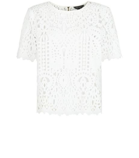 White Lace T-Shirt | New Look