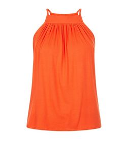Orange Square Neck Cami  | New Look