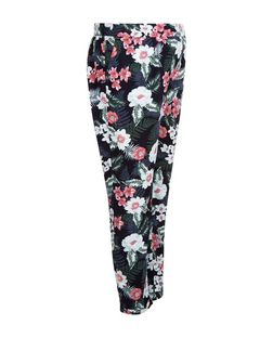 Maternity Blue Tropical Print Joggers | New Look
