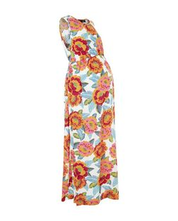 Maternity Pink Floral Print Maxi Dresses | New Look