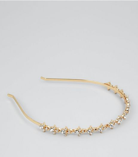 Gold Diamante Embellished Headband | New Look
