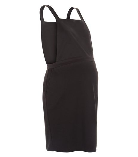 Maternity Black Pinafore Dress | New Look