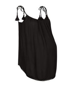 Maternity Black Tie Strap Cami | New Look