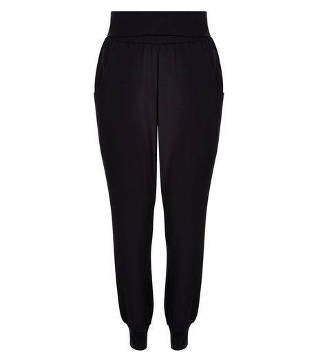 Black Woven Harem Trousers  | New Look