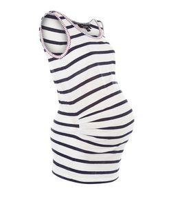 Maternity Stripe Neon Trim Vest | New Look