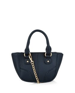Black Mini Tote Bag | New Look