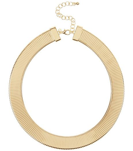 Gold Textured Torque Necklace  | New Look