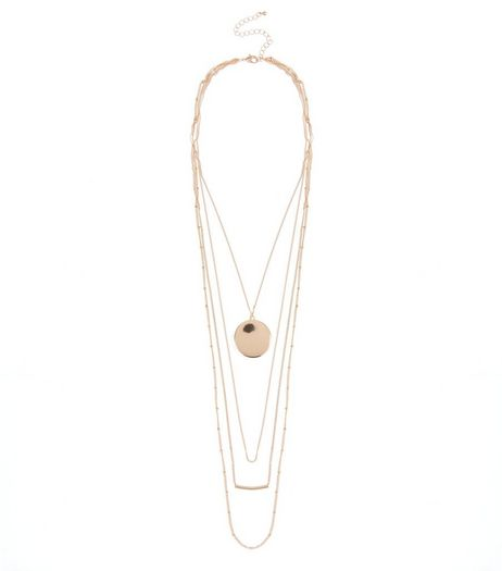 Gold Coin Layered Necklace  | New Look