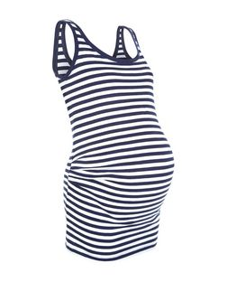 Maternity Blue Stripe Vest | New Look