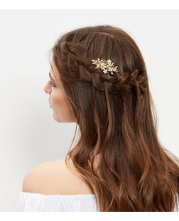 Gold Floral Hair Clip | New Look