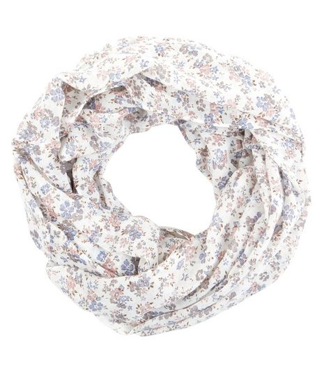 Cream Ditsy Floral Snood | New Look