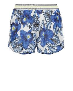 Blue Tropical Print Shorts | New Look