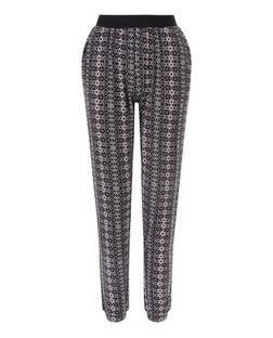 Teens Black Aztec Print Joggers  | New Look