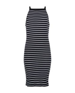 Teens Black Stripe Square Neck Bodycon Dress | New Look
