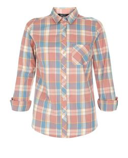 Teens Pink Check Single Pocket Shirt | New Look