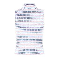 Pink Stripe Funnel Neck Sleeveless Top  | New Look