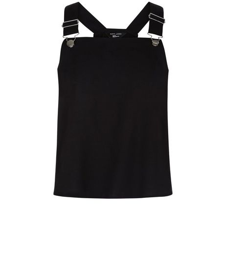 Teens Black Pinafore Top | New Look
