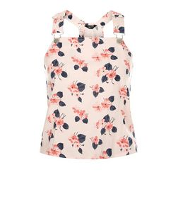 Teens Pink Floral Print Pinafore Top | New Look
