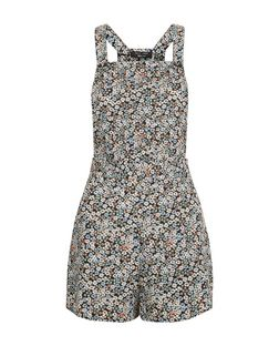 Teens Black Ditsy Floral Playsuit | New Look