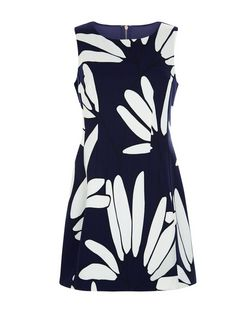 Cameo Rose Navy Floral Print Skater Dress | New Look