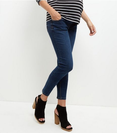 Maternity Navy Under Bump Skinny Jeans | New Look