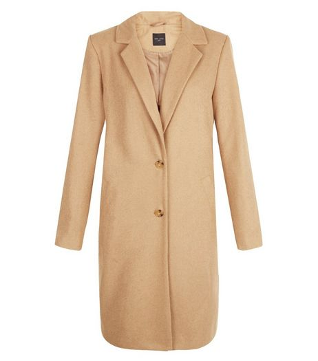 Tall Camel Longline Coat | New Look