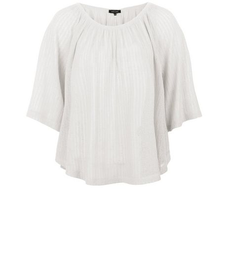 Cream Pointelle Fine Knit Gypsy Top | New Look