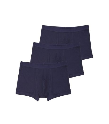 3 Pack Navy Trunks | New Look