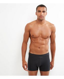 3 Pack Black Boxer Briefs | New Look