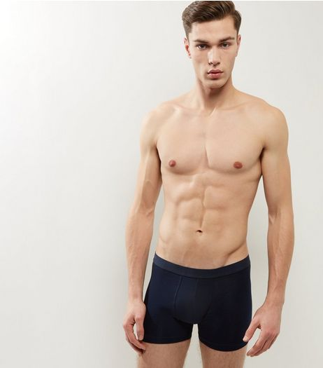 3 Pack Navy Boxer Briefs | New Look