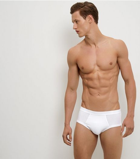 3 Pack White Grey and Black Briefs | New Look