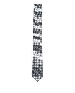 Black Check Tie | New Look