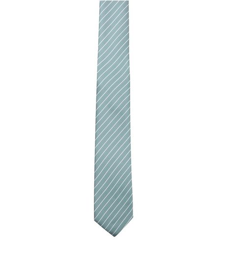 Green Stripe Tie | New Look