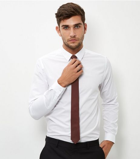 Burgundy Tie | New Look