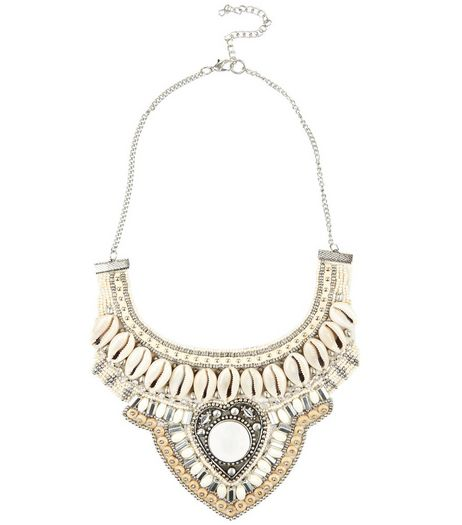 Cream Shell Beaded Necklace | New Look
