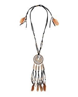 Black Leather Dreamcatcher Pendant  | New Look