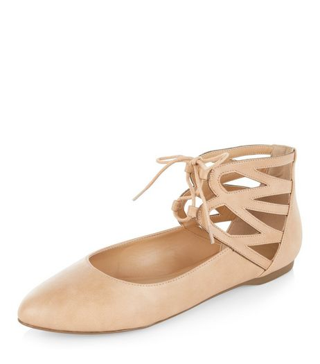 Camel Pointed Ghillie Pumps  | New Look