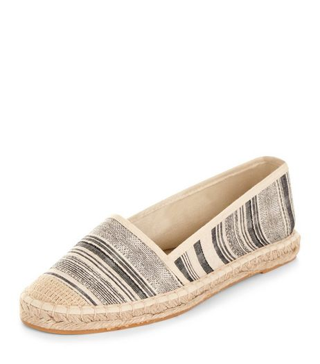 Teens Blue Stripe Espadrilles  | New Look