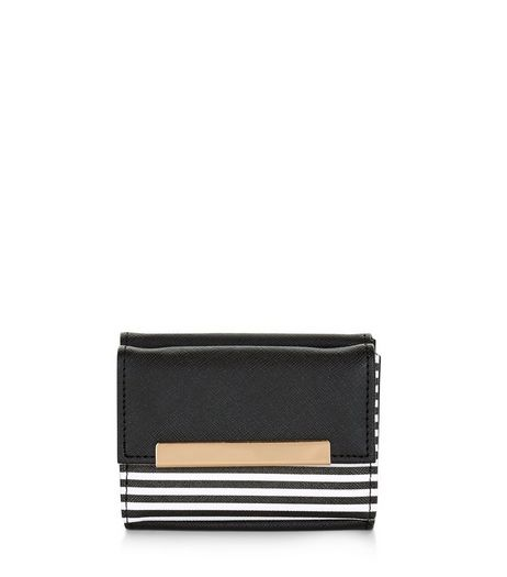 Black Stripe Panel Card Holder | New Look