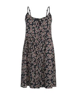 Brave Soul Black Floral Print Slip Dress | New Look