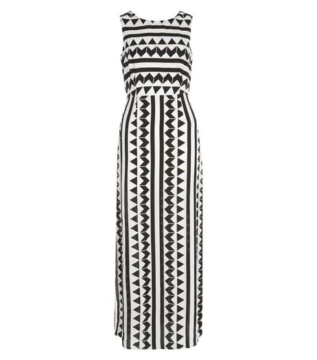 Love & Lies Black Zig Zag Print Maxi Dress | New Look
